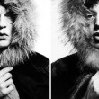 "David Bailey / Mick Jagger ""Fur Hood"" (1964)"